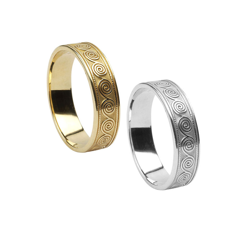 Men's Celtic Spiral Wedding ring