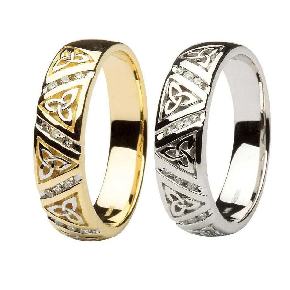 Men's Diamond Trinity Knot Wedding Rings