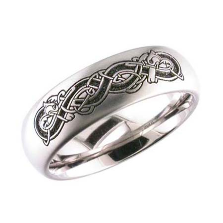 Celtic Hound Wedding ring