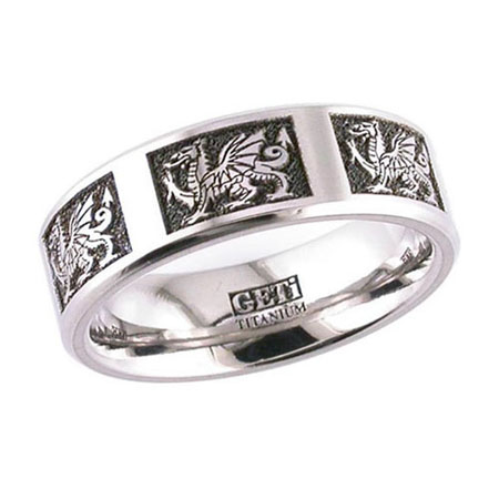 Welsh Dragon Wedding Ring