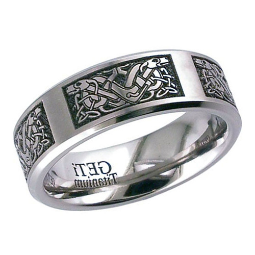 Double Celtic Hound Wedding Ring