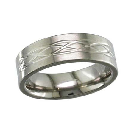 Celtic Weave Wedding Ring in Titanium
