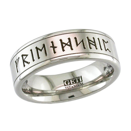 Custom Rune Wedding Ring