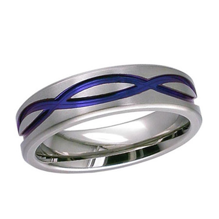 Anodized Celtic Infinity Knot Wedding Ring