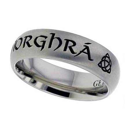 Gaelic Wedding Ring in Titanium