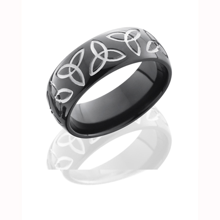Trinity Knot Wedding Ring in Black Zirconium