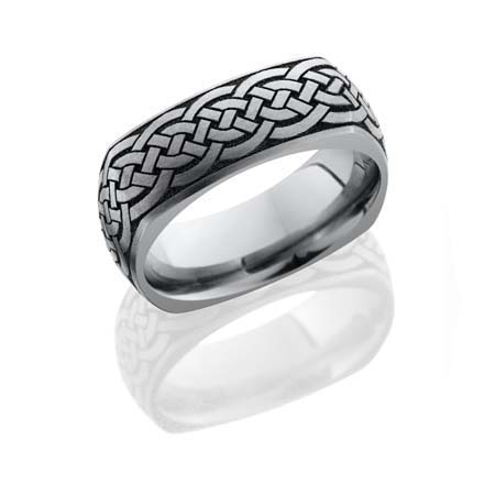Square Celtic Knot Wedding Ring