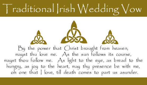 Irish Wedding Vow