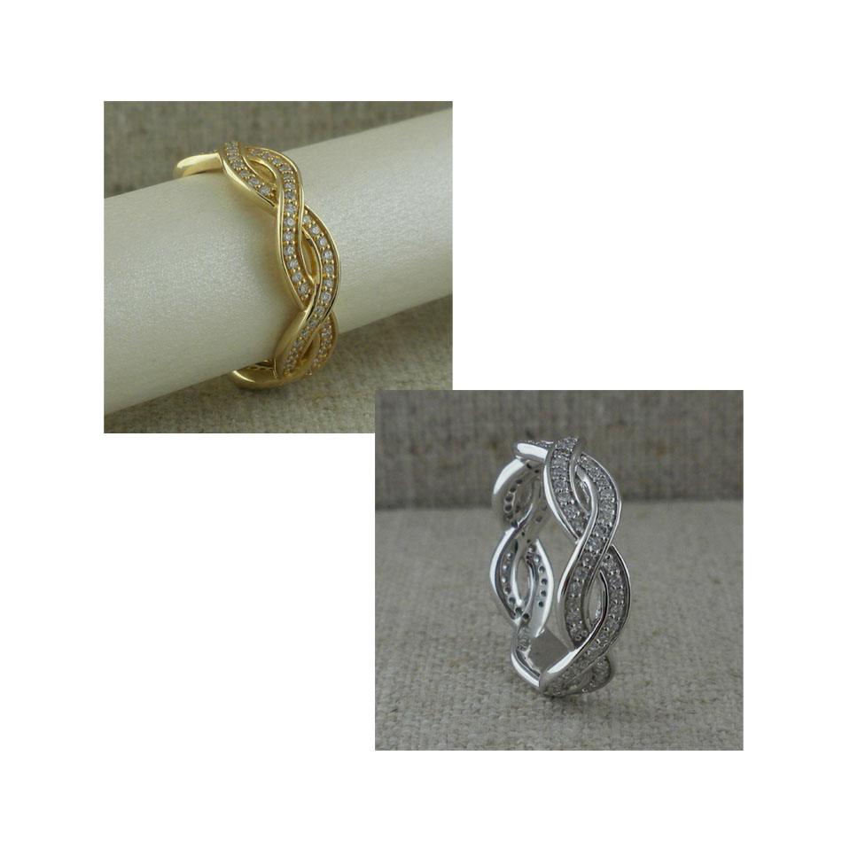 5 mm Diamond Infinity Knot Wedding Ring