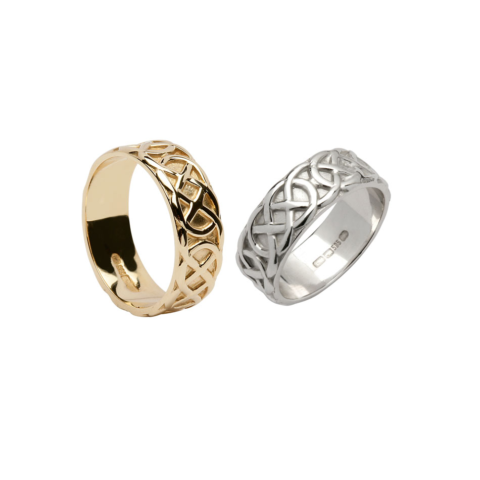Ladies Wide Celtic Knot Wedding Ring