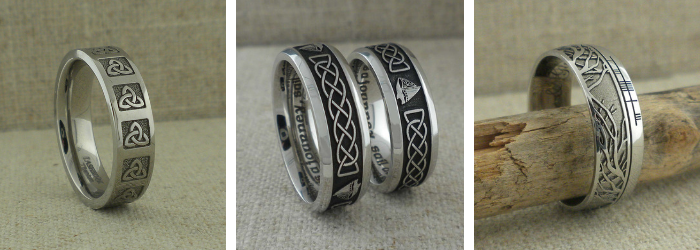 Custom Celtic Wedding Bands