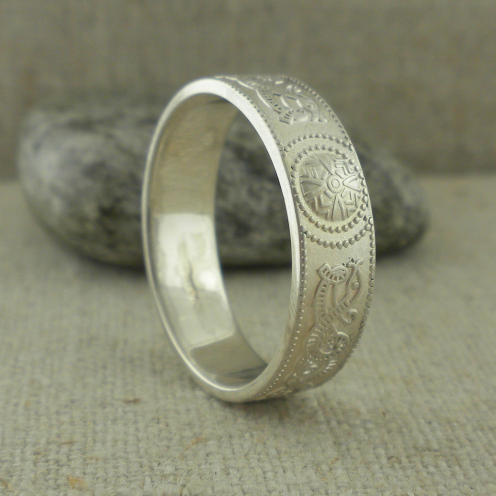 Irish Warrior Shield Wedding Rings