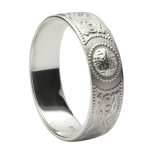 Sterling Silver 6 mm Celtic Warrior Shield Wedding Ring