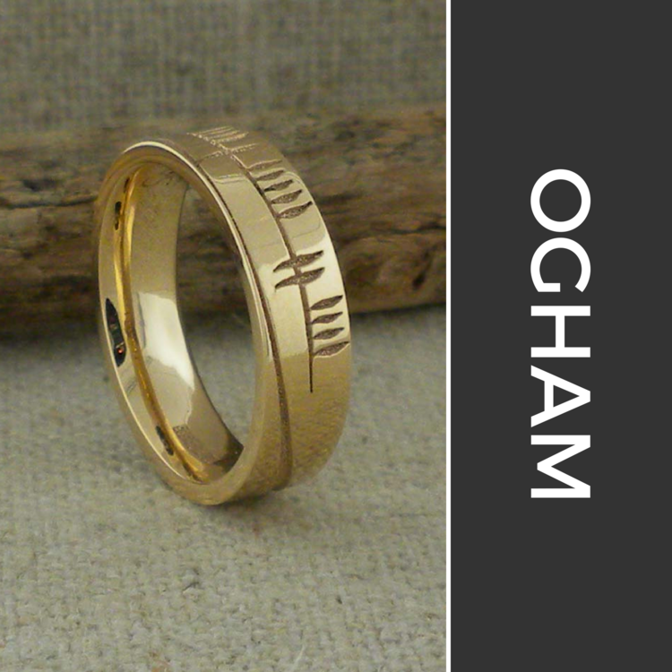 Ogham Wedding Rings