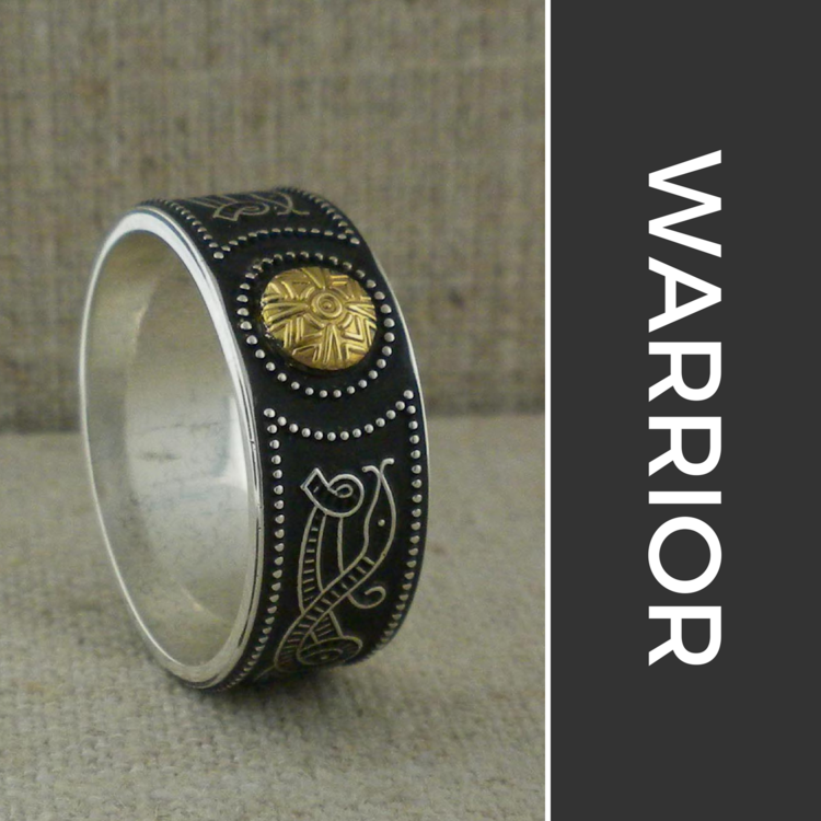 Celtic Warrior Shield Wedding Rings