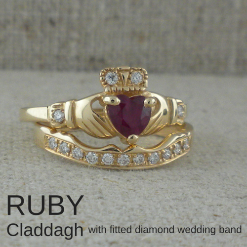 Irish Claddagh Wedding Rings