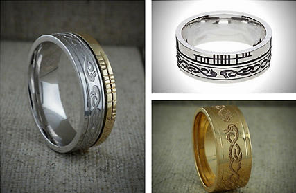 Celtic Swan Wedding Ring