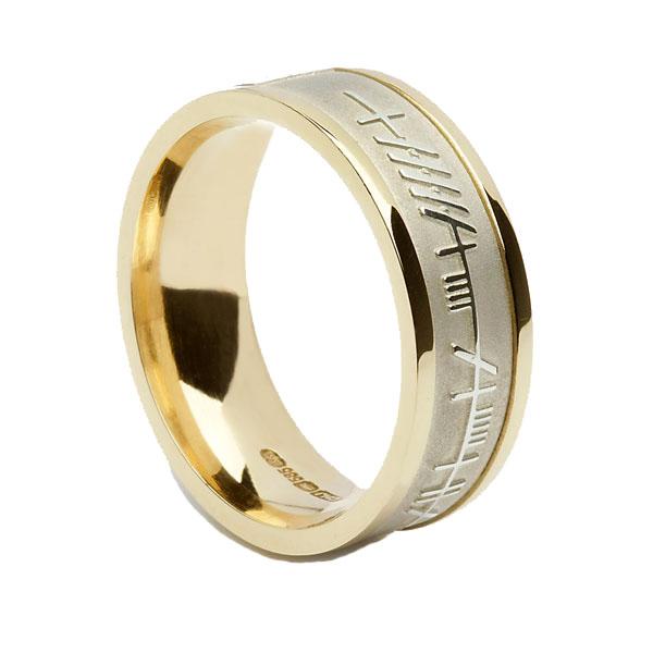 My Soul Mate Ogham Wedding Ring