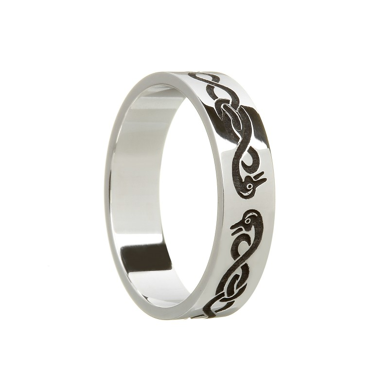 Celtic Swan Wedding Ring