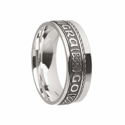 Irish Wedding Rings.Gra Go Deo Wedding Ring 7 5 Mm With Rail Edge
