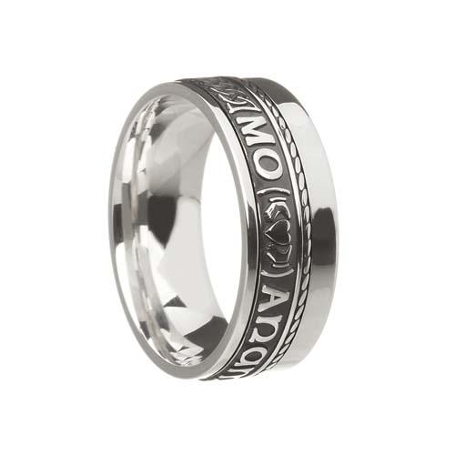 Mo Anam Cara Wedding Ring 7.5 mm with Rail Edge