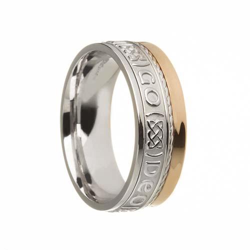 Gra Go Deo Wedding Ring 7.5 mm with Rail Edge