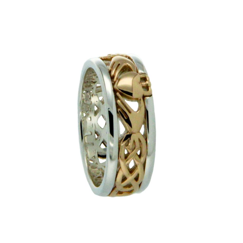 10K & Sterling Silver Claddagh Wedding Ring