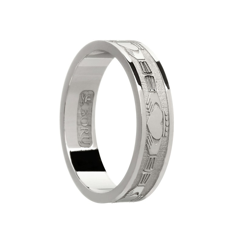 Continuous Claddagh Wedding Band