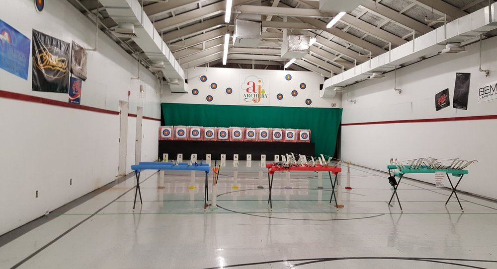 Visit the Range - AJ Archery Range is located at 425 Jefferson Avenue, 2nd Floor in Downtown Toledo, Ohio (next to the SeaGate Center and across from the Huntington Center).