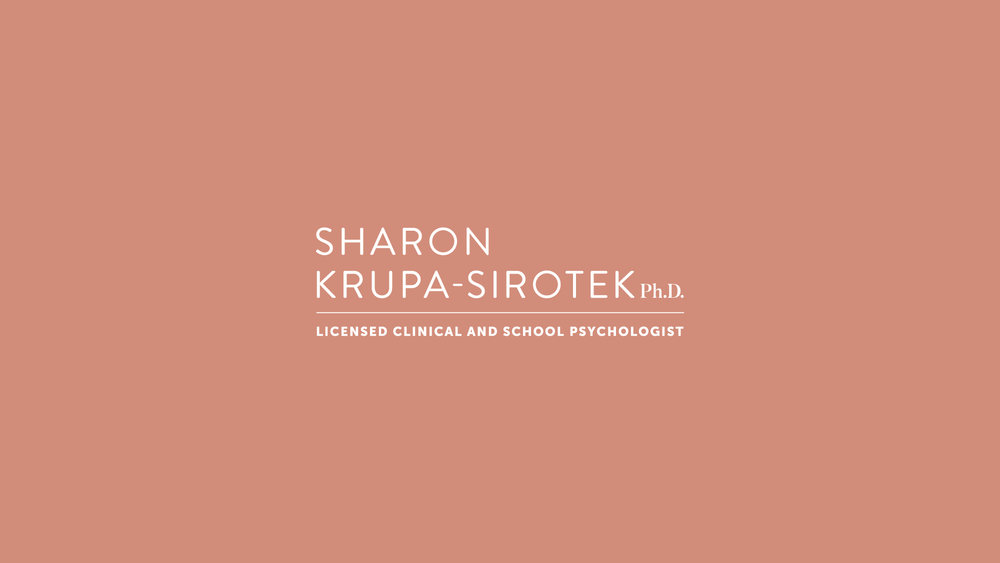 We designed this logo for Sharon Krupa-Sirotek, Ph.D., a licensed clinical and school psychologist