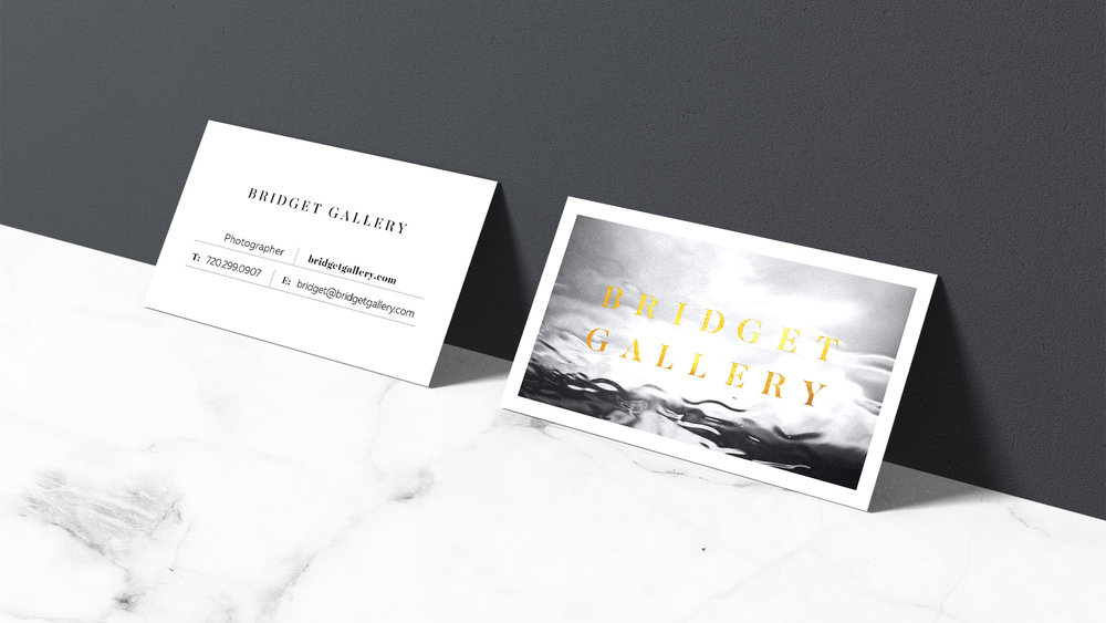 Bridget Gallery Photography's business cards