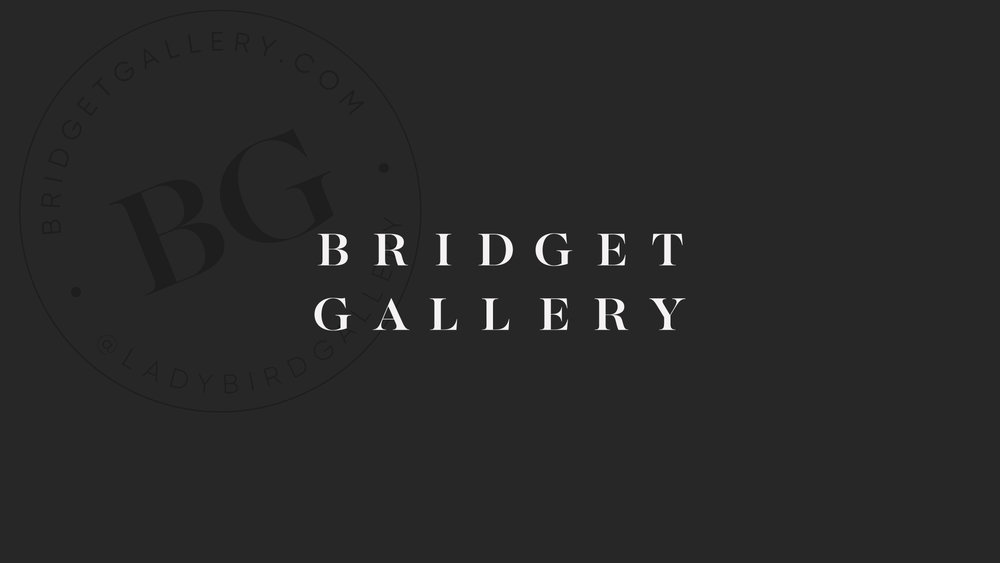The logo we designed for Bridget Gallery Photography
