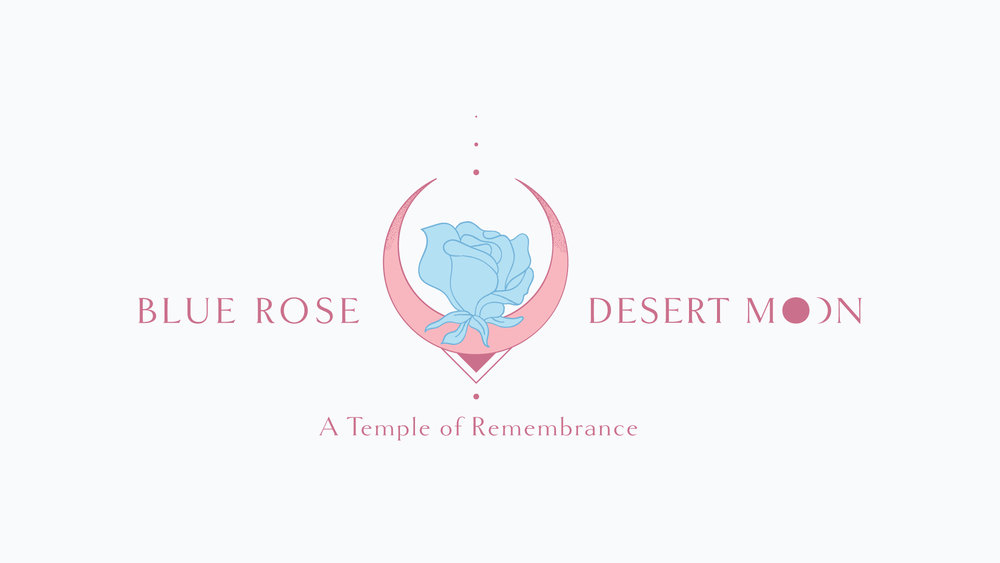 The logo we created for the Blue Rose Desert Moon retreat