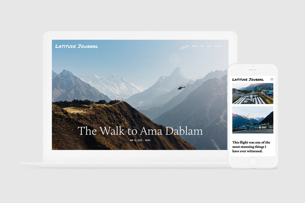 This is the Latitude Journal website that we updated regularly while traveling. This page shows the story of our trek to Ama Dablam base camp