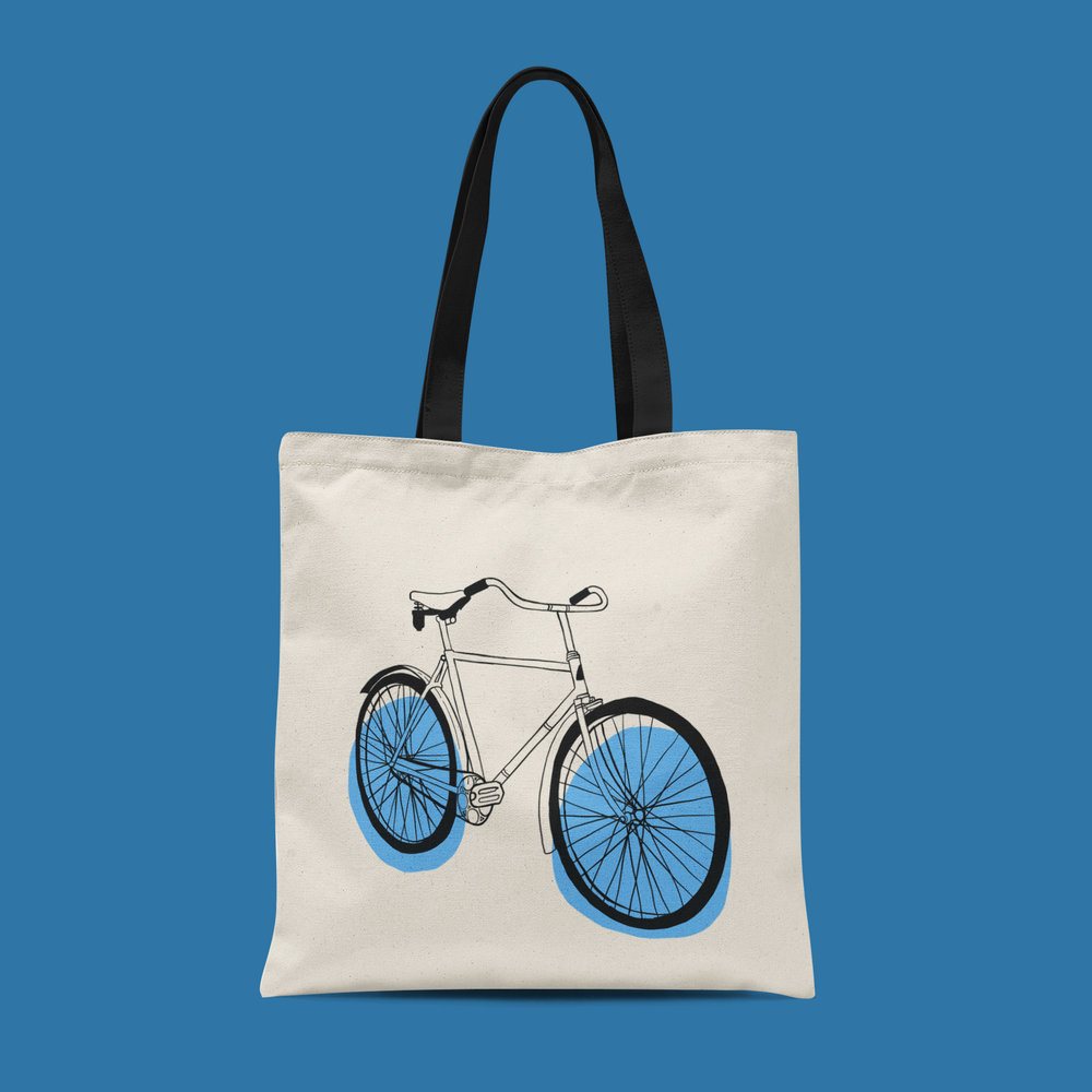 We used the illustrations to create products, like this tote bag