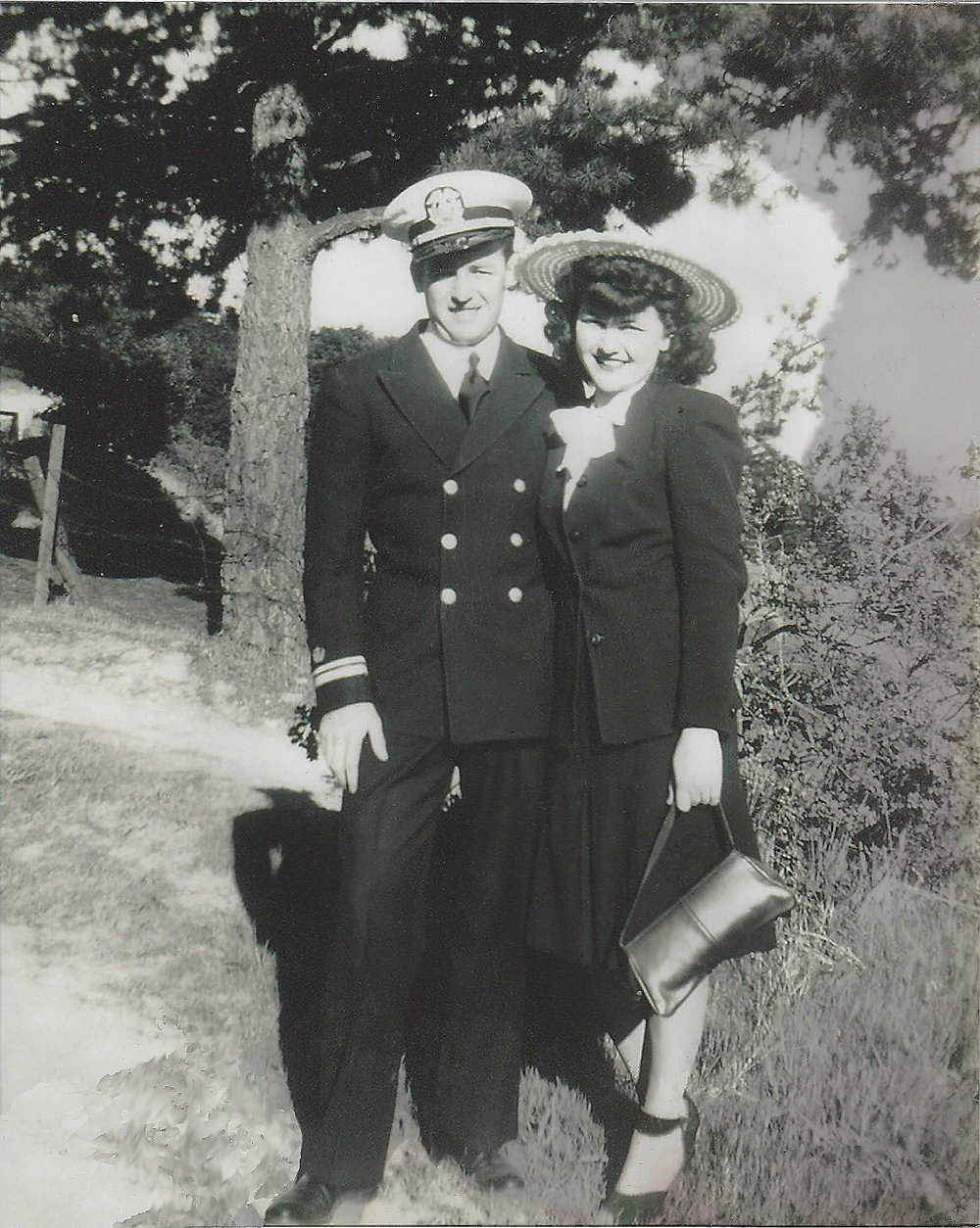 Dad in Uniform with Mom Cleaned,  Cropped & Sharpened.JPG