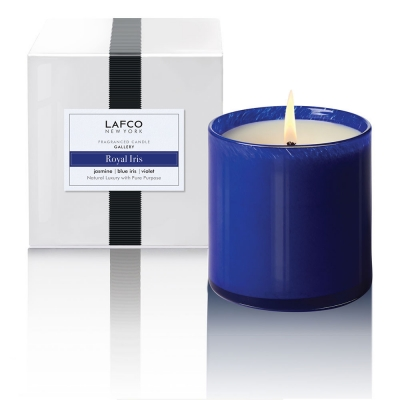 Royal Iris: Violet and blue iris ease into a warm foundation of jasmine, lavandin and creamy cardamom.