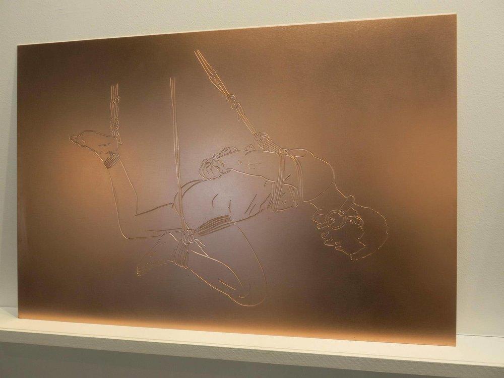 Die Deutsche Reihe / Serie Alemana (2010-2012) / S/T , Cobre 2 mm grabado (60 x 90 cm) 2014