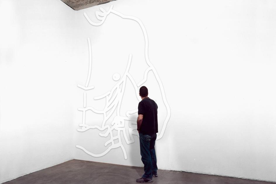 "Coloso, Gimnastas / ""Men's Health"" , Museo de Arte Moderno de Buenos Aires (2003).  Vista de instalación"