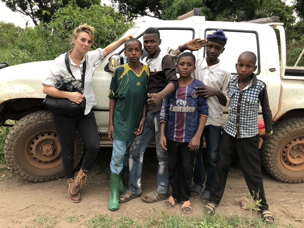 These local kids adopted us while we were doing work with pastoralist groups in northern Congo. They asked for a photo of our junior research team:)