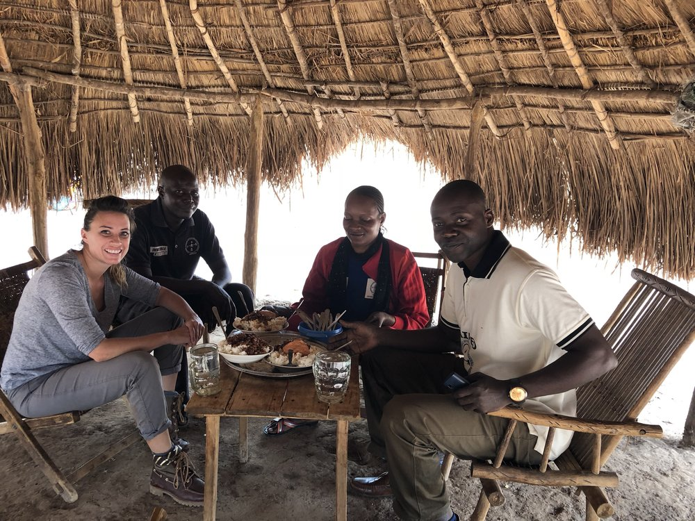 """In one field site, we found this little """"restaurant"""" (a woman kind enough to cook for us). She made some of the most delicious Congolese food I've ever had."""