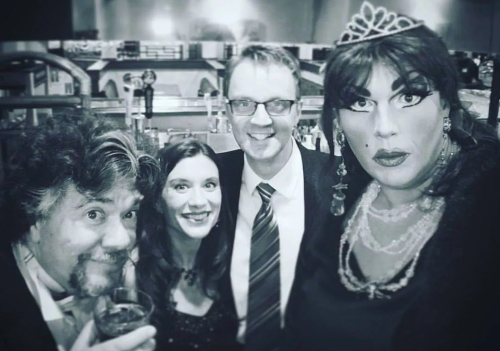 performing together recently at  Sleuths Mystery Dinner Theatre  (Alex in drag)
