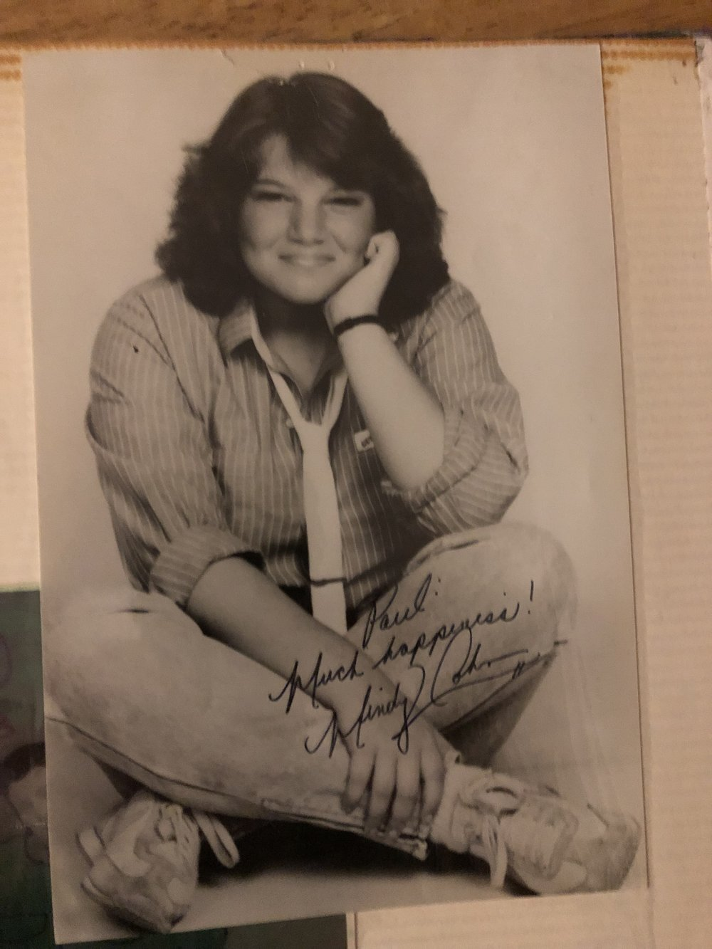 """Much Happiness!"" - Paul's autographed photo of Mindy Cohn!"