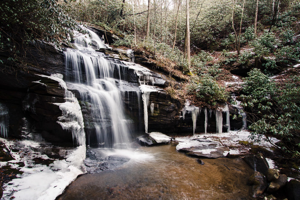 Standing Rock Falls -- A beautiful waterfall near the sanctuary  Photography by Mela