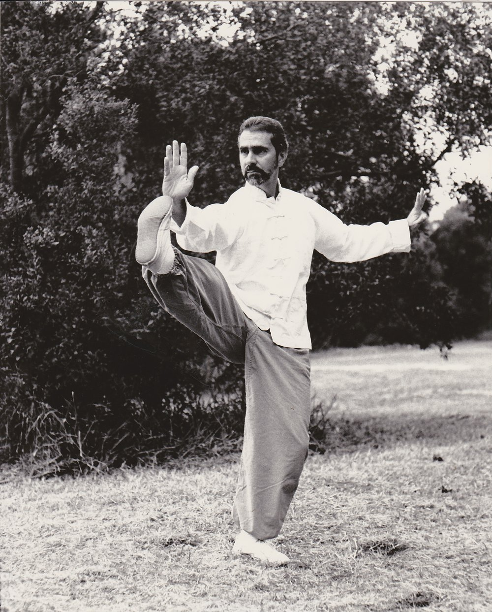 Sifu Paolillo performing Chen Tai Chi Ch'uan, early 90s
