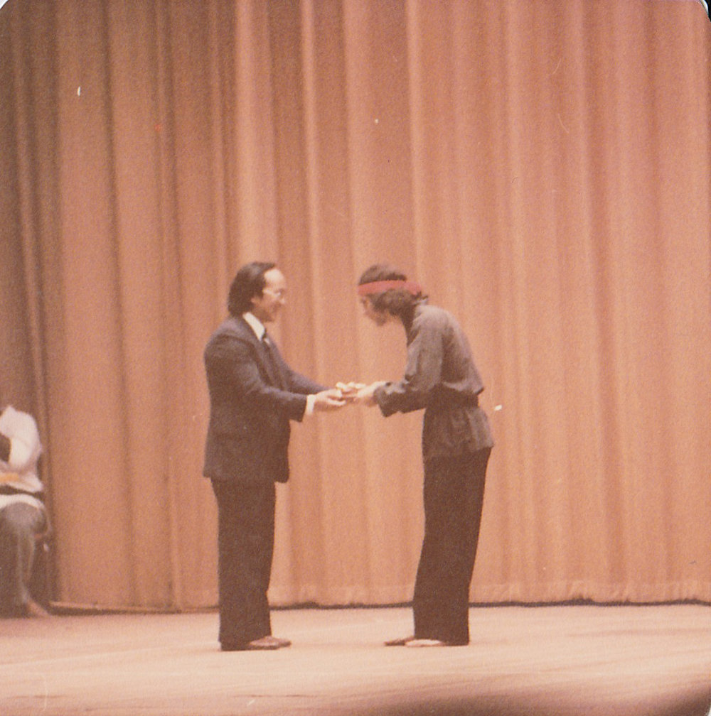 Master Paolillo at the John Hancock Hall in 1976.  Boston, MA.