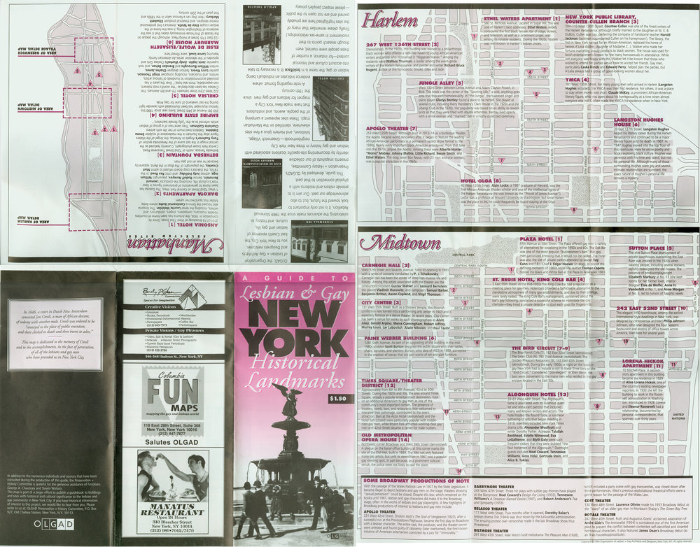 A Guide to Lesbian & Gay New York Historical Landmarks, 1991