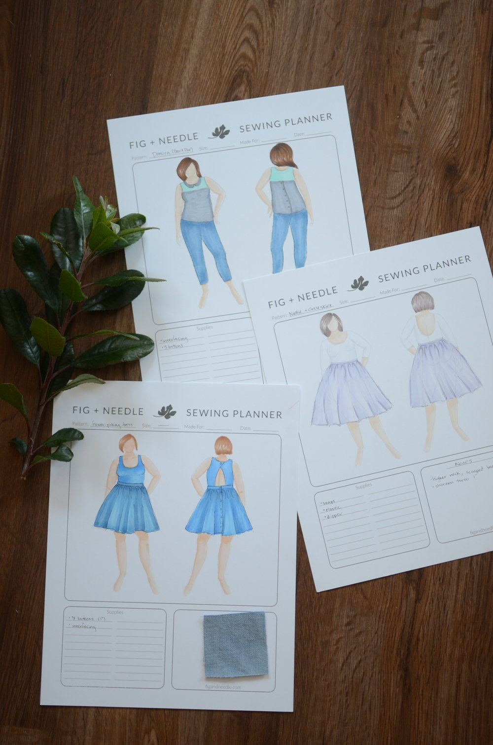 Check out the Fig + Needle blog for your free sewing planner!