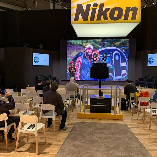 .@mandyleaphoto talking about her adventures and photography in her #tinyhome @ #ces2019 courtesy of @nikonusa Great presentation! . . . . . #tinyhome #homeiswhereyouparkit #tinyhouse #travel #vanlife #tinyliving #wanderlust #camping #rvlife #homeonwheels #roadtrip #adventure #airstream #rvliving #camper #rv #glamping #nature #fulltimerv #explore #campervan #traveltrailer #tinyhousemovement #airstreamlife #gorving #airstreamdreams #outdoors #liveriveted