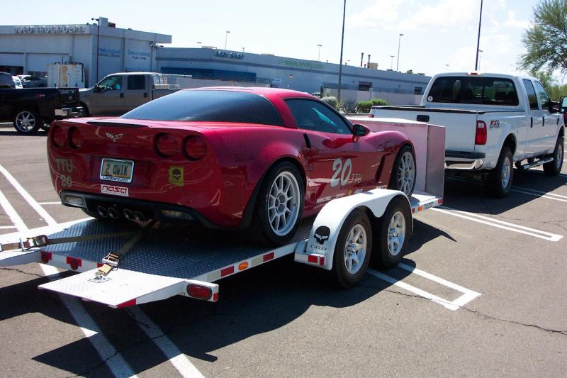 open car trailer for corvette